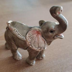 Elephant Jeweled Trinket Box  SWAROVSKI Crystals